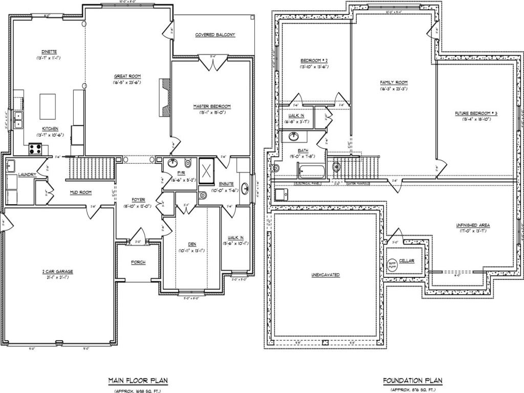 One Story Open Concept Floor Plans Anime Concept, Single