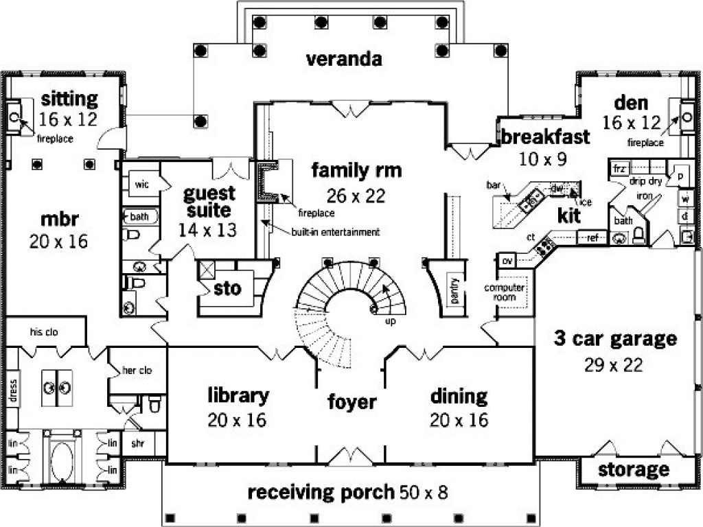 mansion floor plan house blueprint blueprint for mansion house floor 14107
