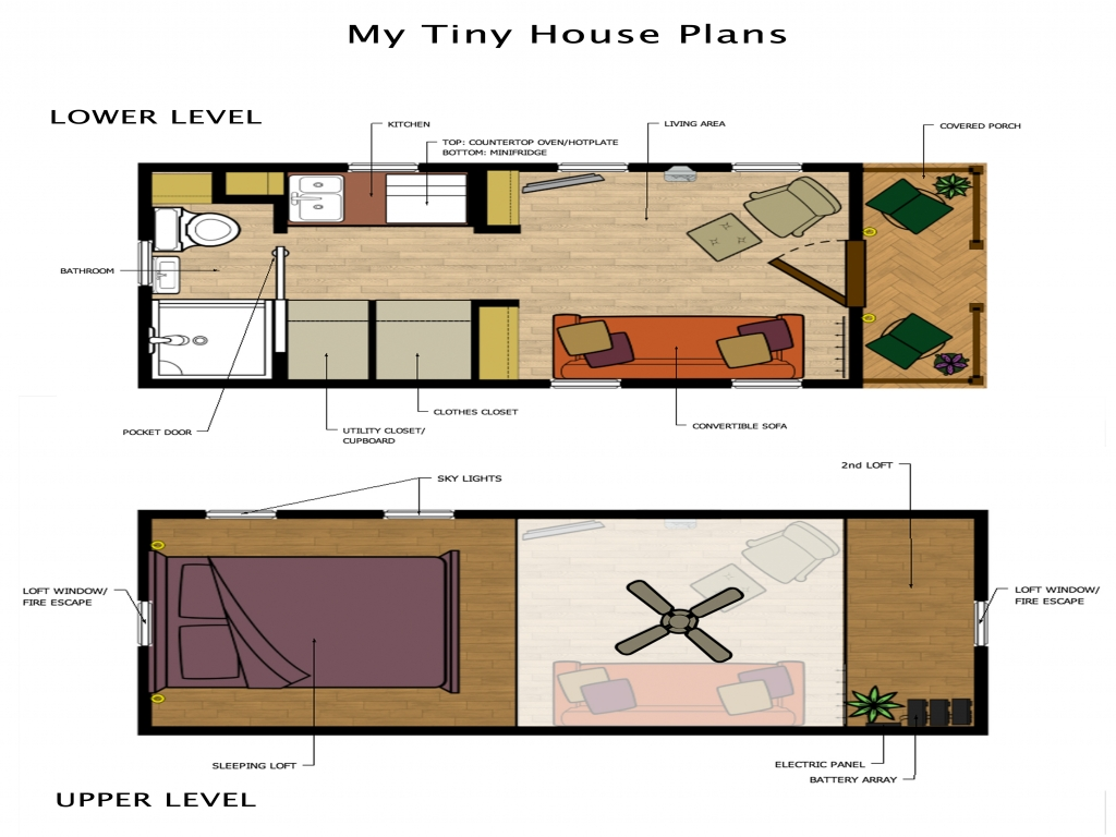 Tiny Loft House Floor Plans Tiny House Storage Stairs Loft