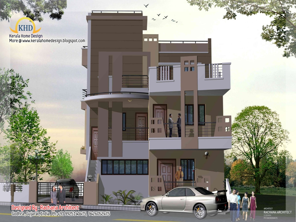 Modern 1 Story House Small 3 Story House Plans Three
