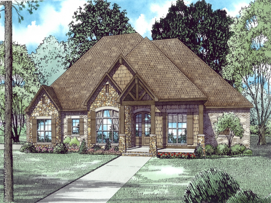 Craftsman style house plans with 3 car garage vintage for Ranch style home plans with 3 car garage