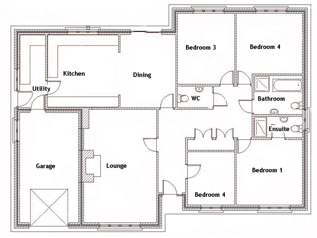4 Bedroom House With Pool 4 Bedroom House Floor Plans