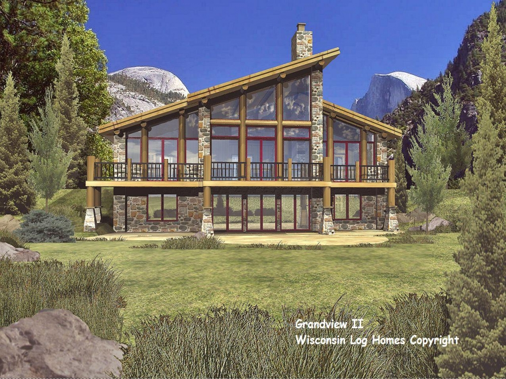 Log home bedrooms modern log home floor plans log homes for Modern log home plans