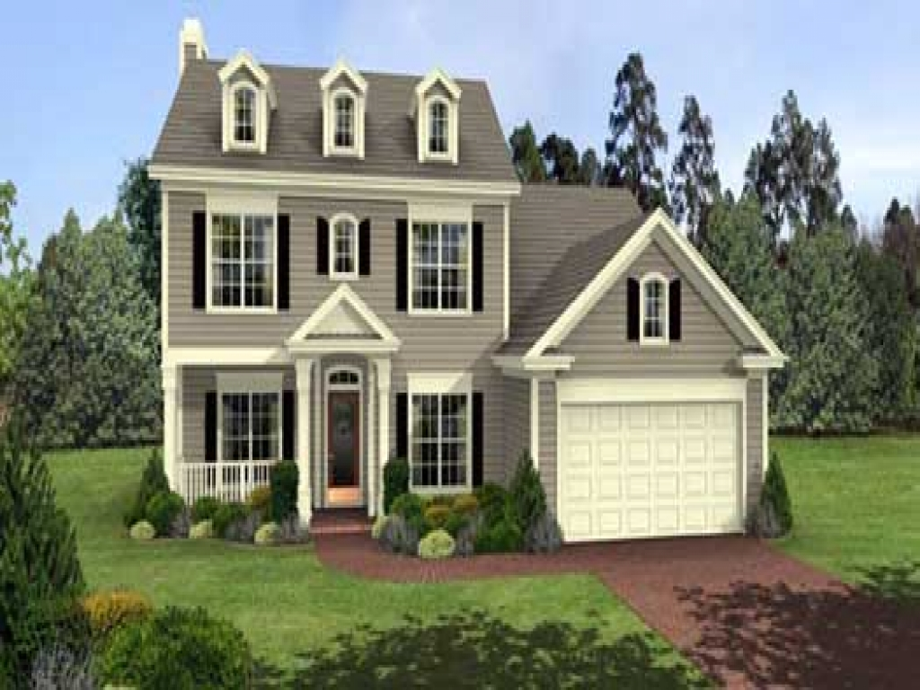 Colonial 3 story house plans 2 story colonial style house for Colonial style homes floor plans