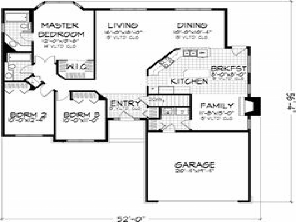 3 bedroom floor plans with garage 3 small house bedroom 3 bedroom house floor plans with garage single story house plans without 6619