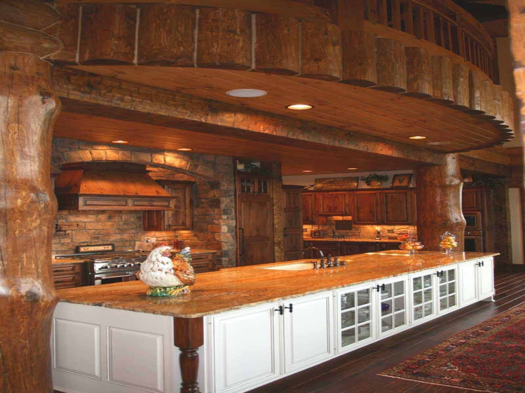 Log Cabin Kitchens Bar Log Home Kitchens Islands Log Home