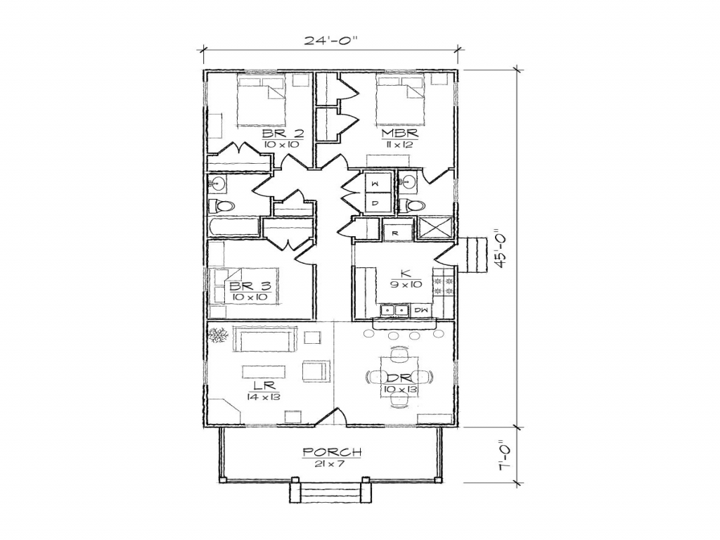 Narrow lot house floor plans narrow house plans with rear for Narrow house floor plans