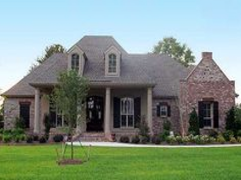 French country house exteriors french country house plans for Single story country house plans