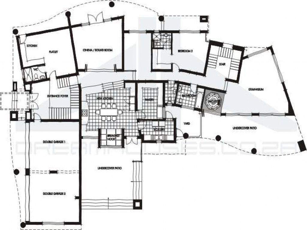 Contemporary House Floor Plans One Story Mediterranean House Plans Modern House Designs And