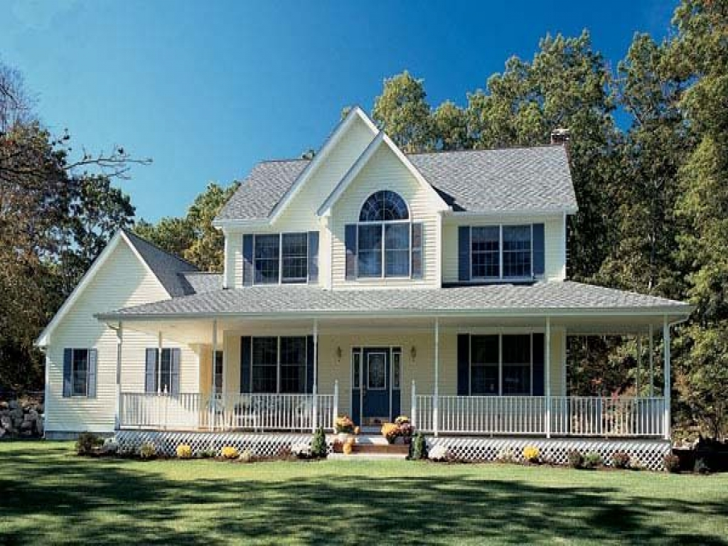 Farm style house plans with wrap around porch farmhouse for Farmhouse plan with wrap around porch