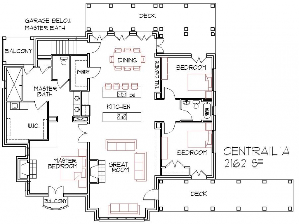 Small home open floor house plans small open concept homes for Great house floor plans