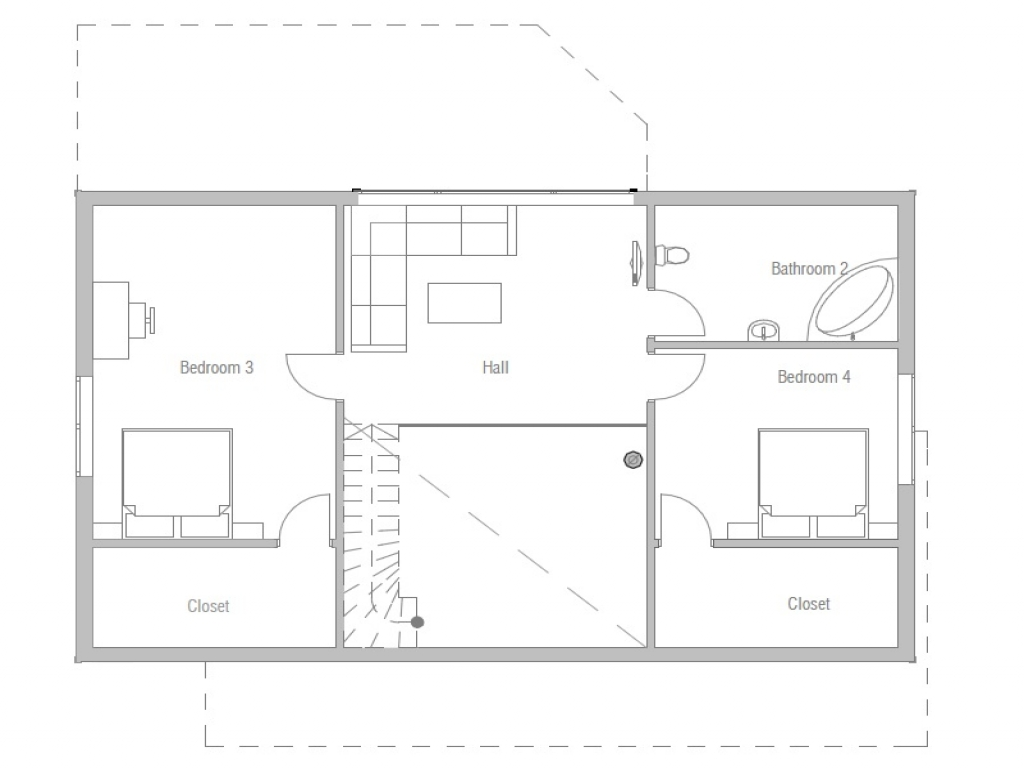 Affordable small modern house plan simple small house for Affordable home plans