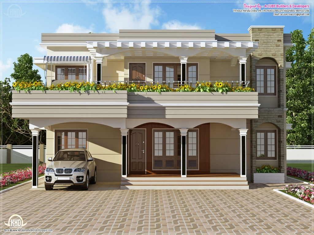 Flat roof style homes flat roof modern house designs flat for Flat roof modern house