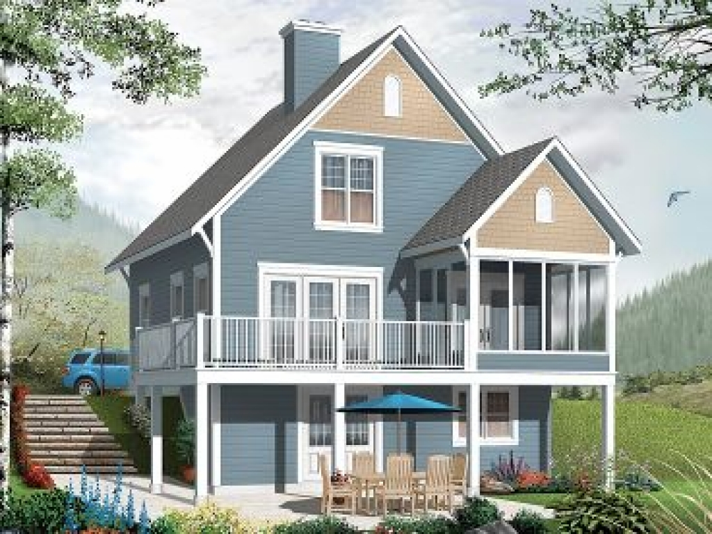 Two story beach cottage plans 2 story cottage house plans for Seaside cottage plans