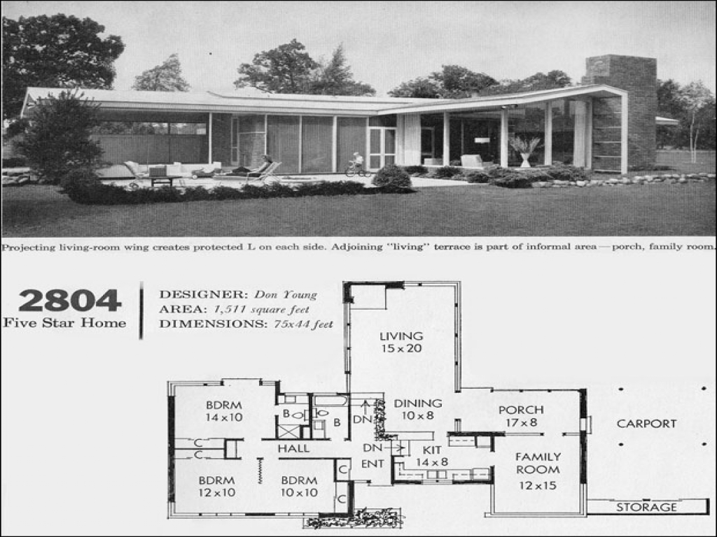 mid century modern furniture mid century modern house floor plan 1960 style homes. Black Bedroom Furniture Sets. Home Design Ideas