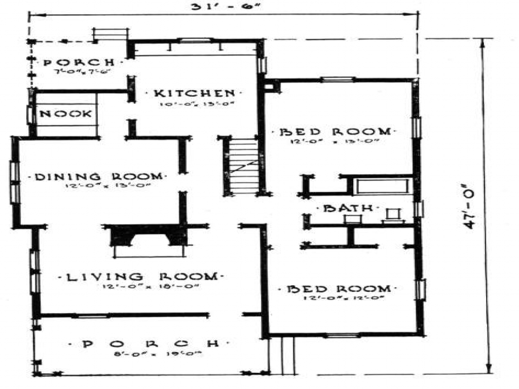 Small home plan house design small concrete block house for Small concrete block house plans