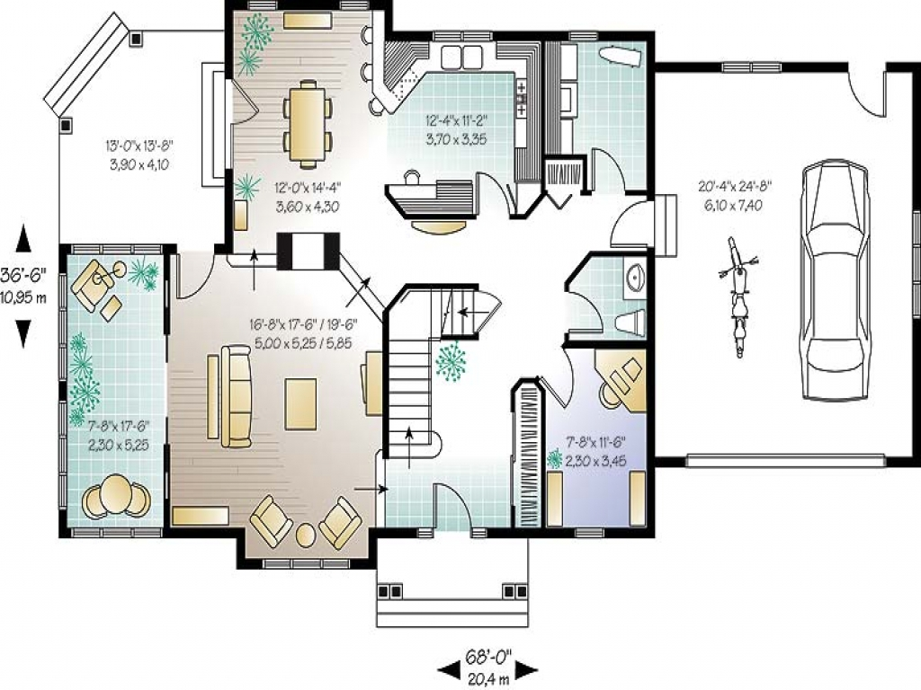 Small Open Concept House Plans Open Floor Plans Small Home ...