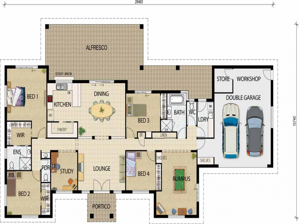 Best open floor house plans open floor plans ranch house planning of house design for Open floor plan ranch house designs