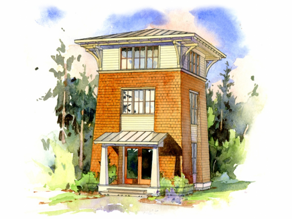 Fire Tower Cabin Plans Small House Plans Perfect