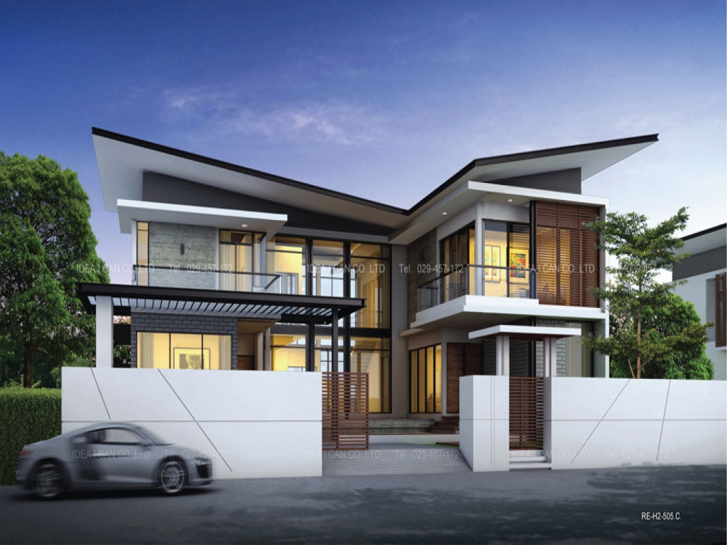 One storey modern house design modern two storey house designs 2 story contemporary house plans - Modern two story houses ...