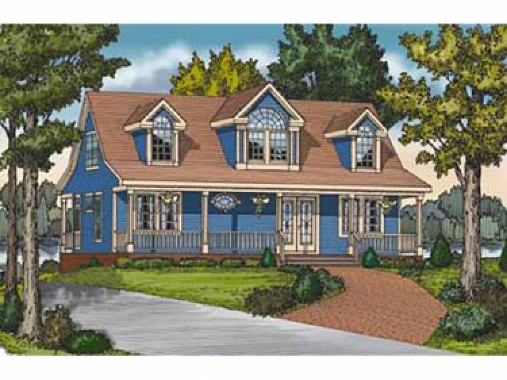 Country cottage house plans with porches cottage living for Country living house plans