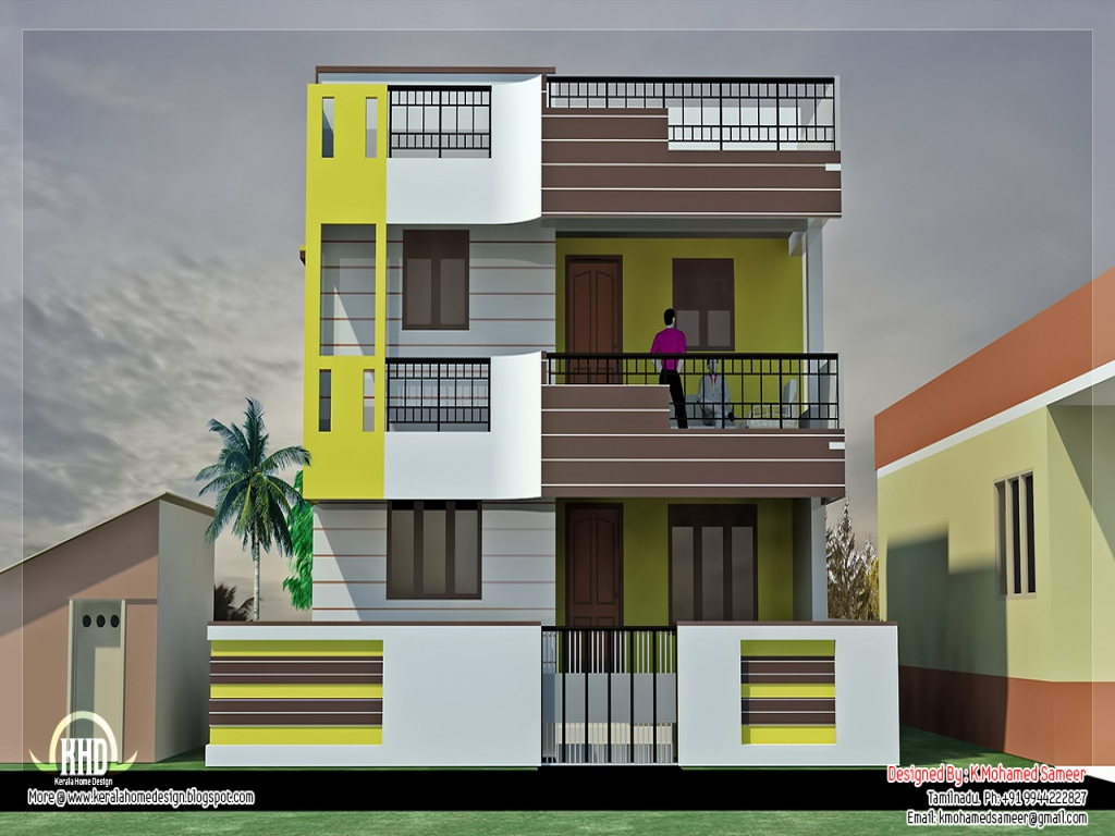 South indian house designs wooden grill south indian house for South indian model house plan