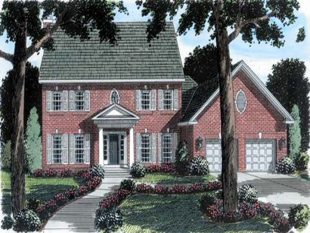 Brick colonial house plans new england colonial house for New england colonial home plans