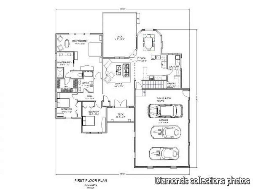Modern ranch style house plans 2015 2016 video for Home design diamonds