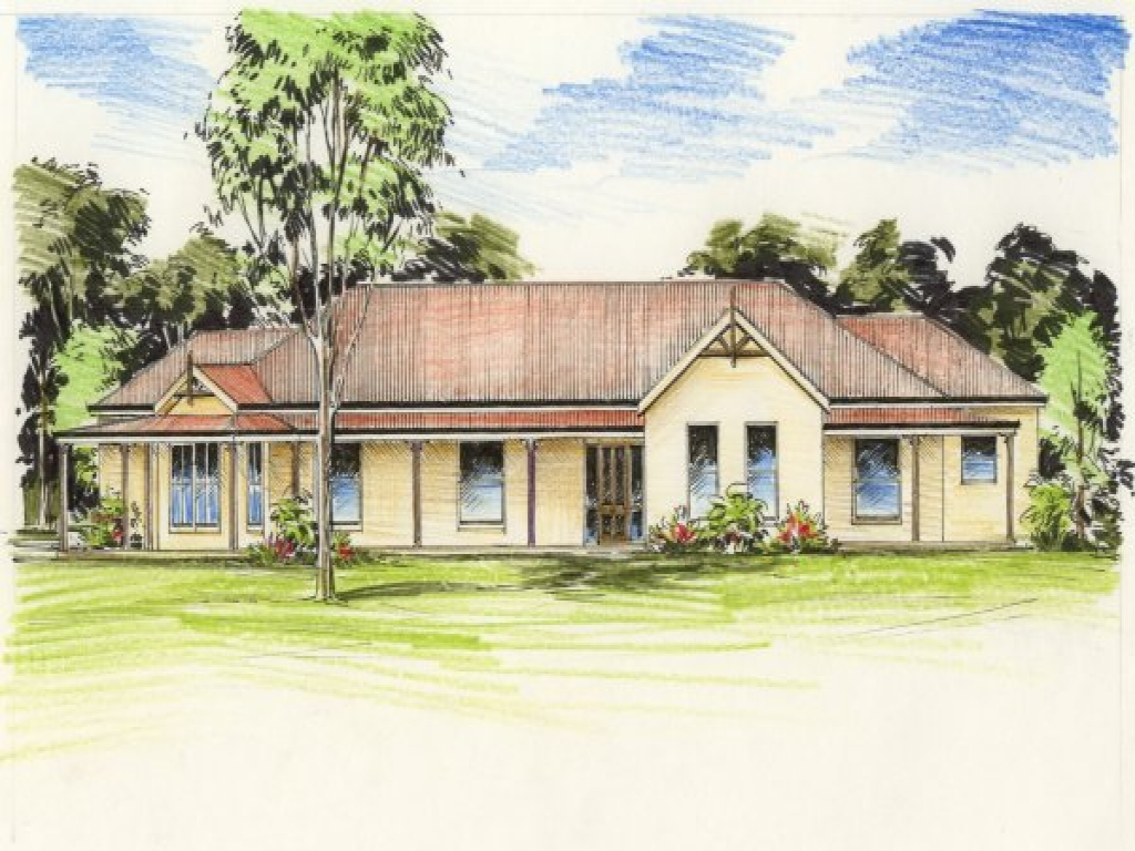 Australian colonial house plans australian outback house for Colonial home designs