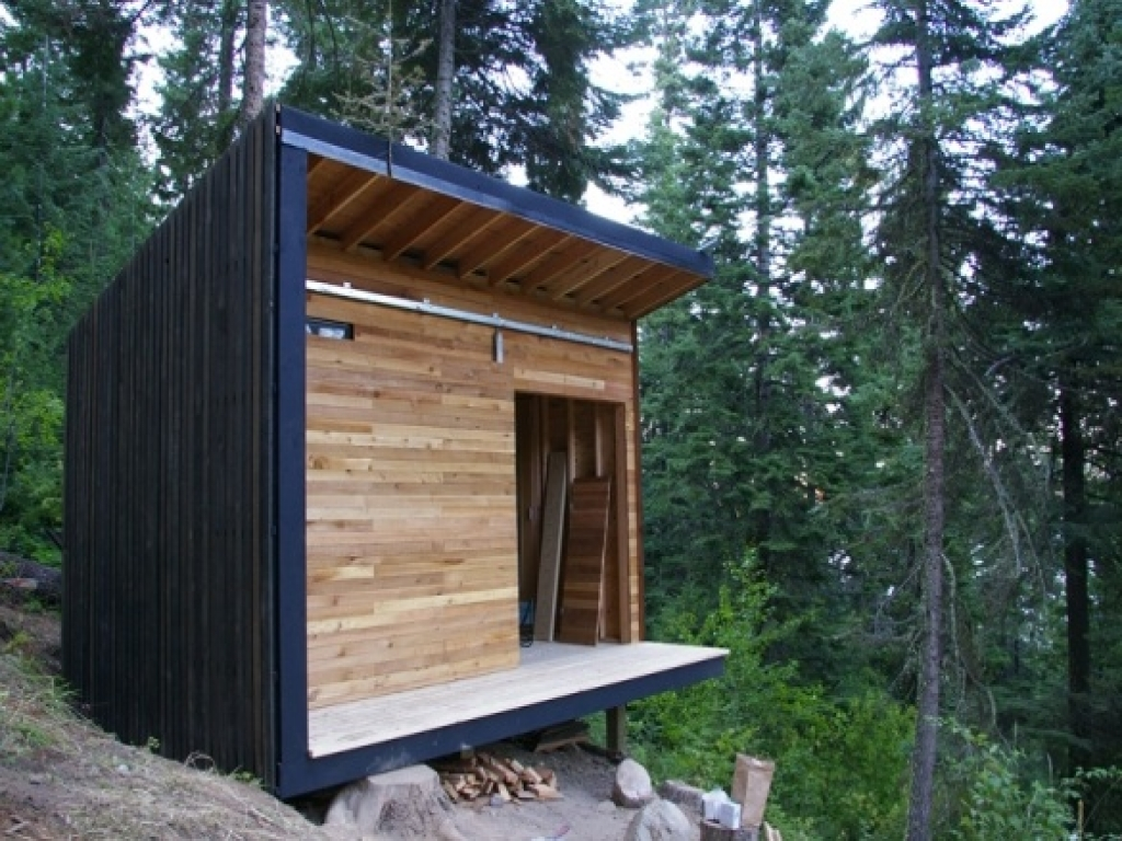 Tiny Home Designs: Inexpensive Small Cabin Plans Small Shed Cabins, Small