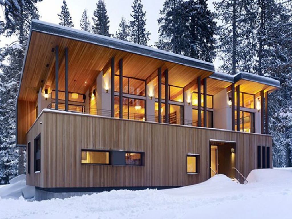 Mountain Home Plans Modern Cabins Modern Mountain Home ...