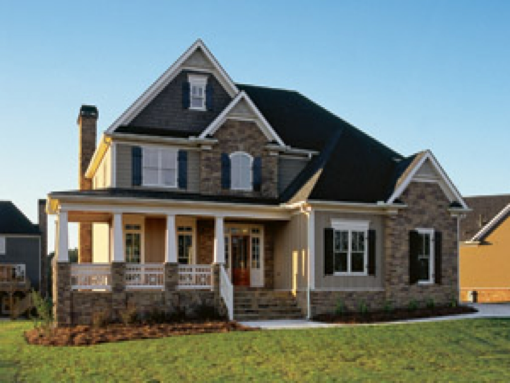 Country house plans 2 story home country house plans with for Two story porch house plans