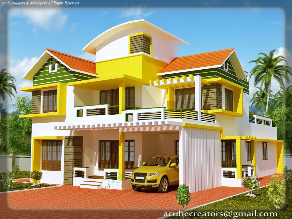 Duplex house elevation split level house elevation small for Small house elevation models