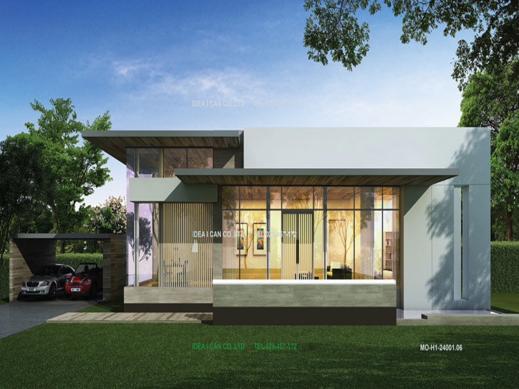 Modern House Single Floor Plans Modern Single Story House ...