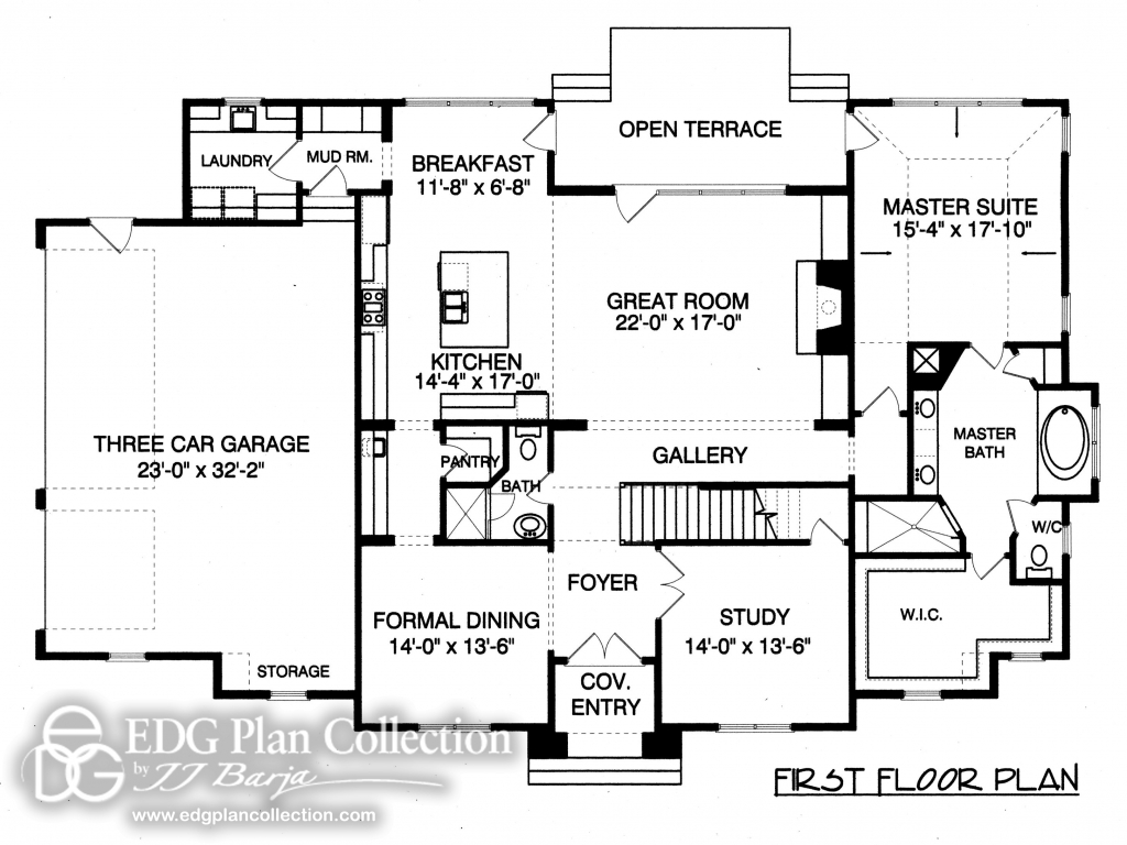 Provincial french country house plan french country for Country home floor plans