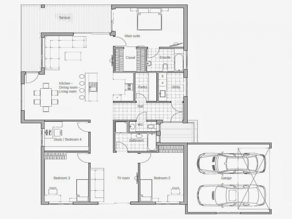Affordable 3 bedroom house plans to build 3 small house for Small affordable house plans