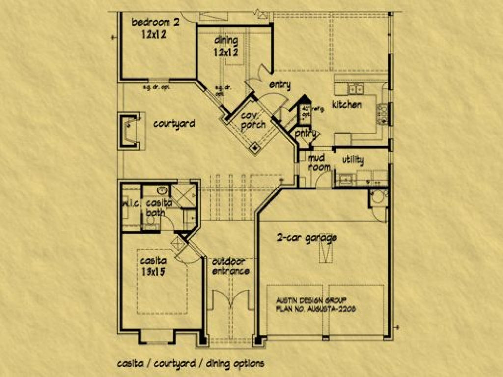 Casitas Arizona House Plans House Plans With Casitas And