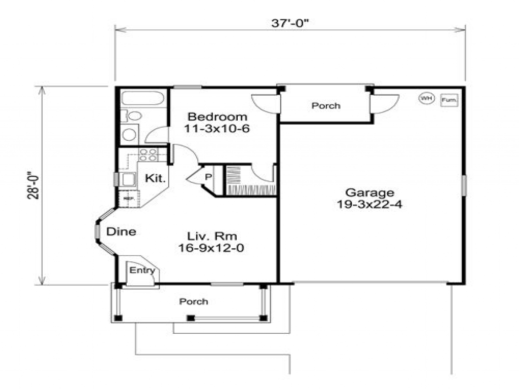 2 car garage with apartment above 1 bedroom garage for Plans for 3 car garage with apartment above