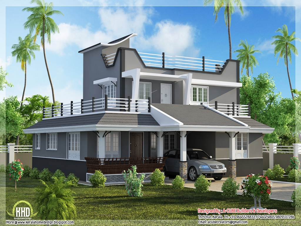 Contemporary style homes colonial style homes home plans for Colonial style house plans kerala