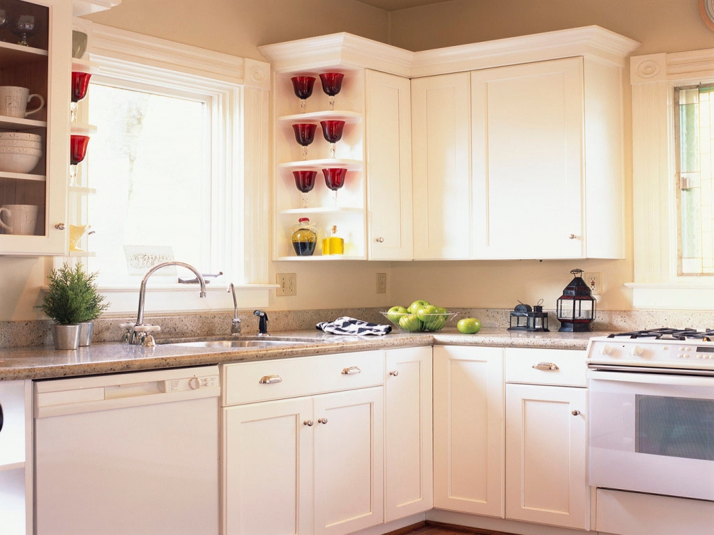 Small Kitchen Closet Ideas: Country Kitchens With White Cabinets Small White Kitchen