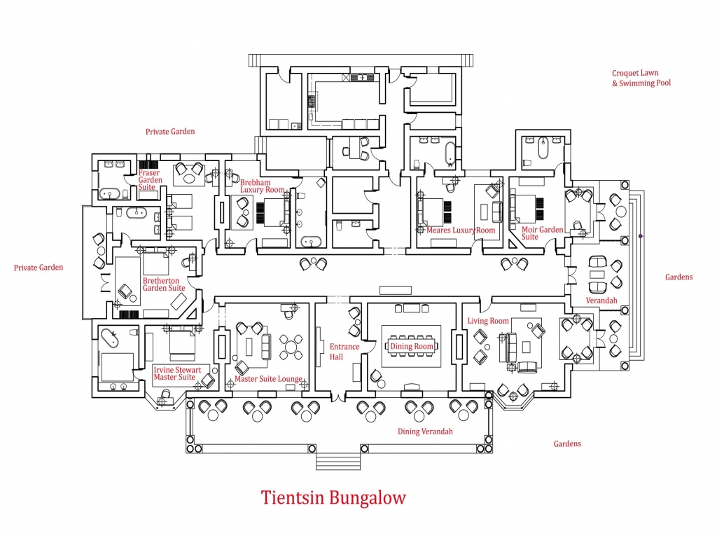 Craftsman Bungalow House Plans Bungalow Floor Plan Luxury Bungalows Plans Treesranch Com