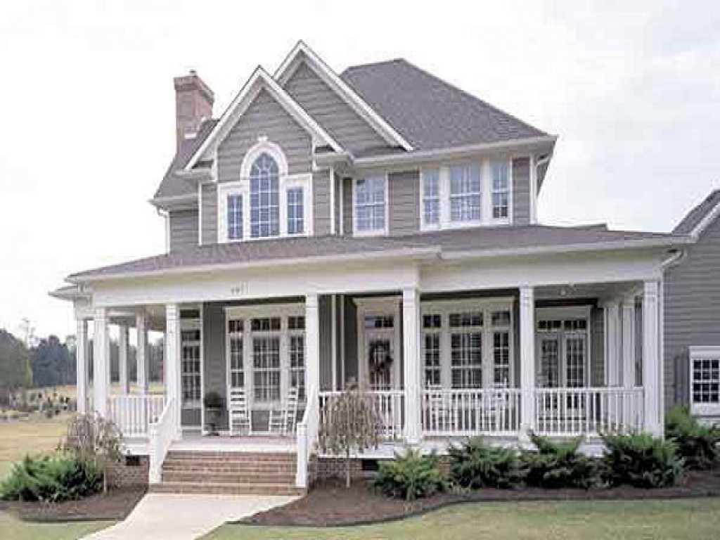 Country homes open floor plan country house floor plans for Open house plans with porches