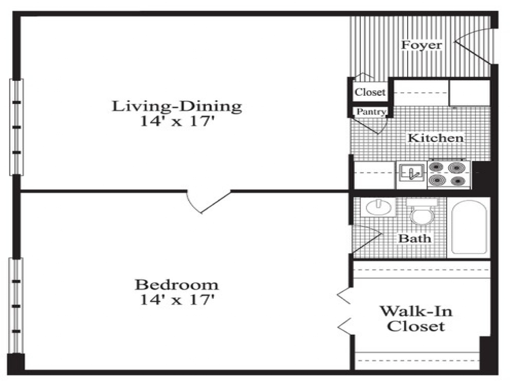 One bedroom home plans 1 bedroom house plans 24x24 1 for 24x24 cabin floor plans with loft