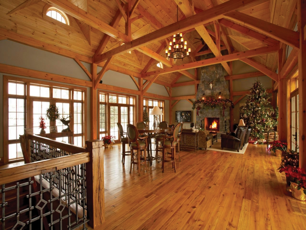Post And Beam Interiors Timber Frame Home Interiors