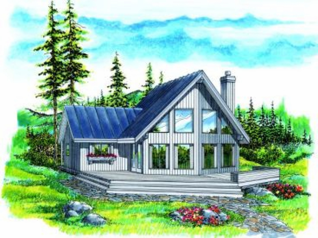 Small vacation home waterfront plans small homes on the for Vacation home plans waterfront