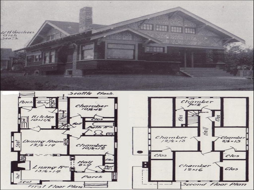 Old bungalow house plans craftsman bungalow house this for Vintage bungalow house plans