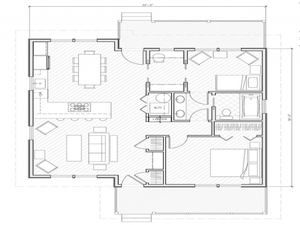 Simple small house floor plans small house plans under for 1000 sq ft floor plan