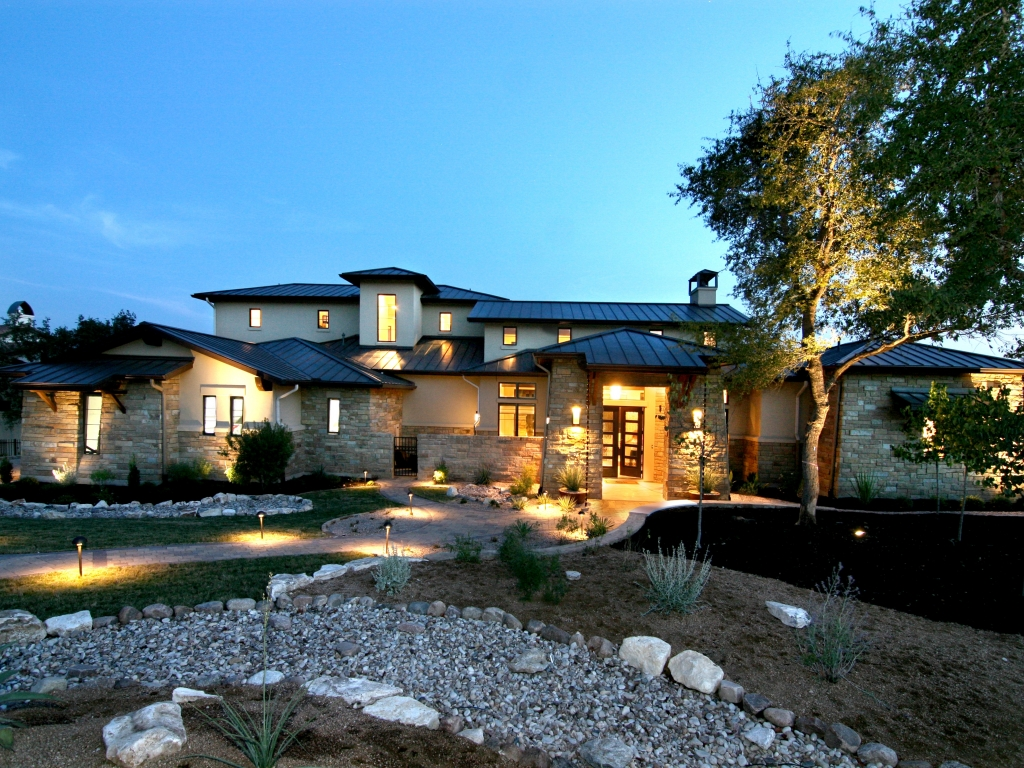 Luxury home hill country brown exterior hill country for Luxury country homes