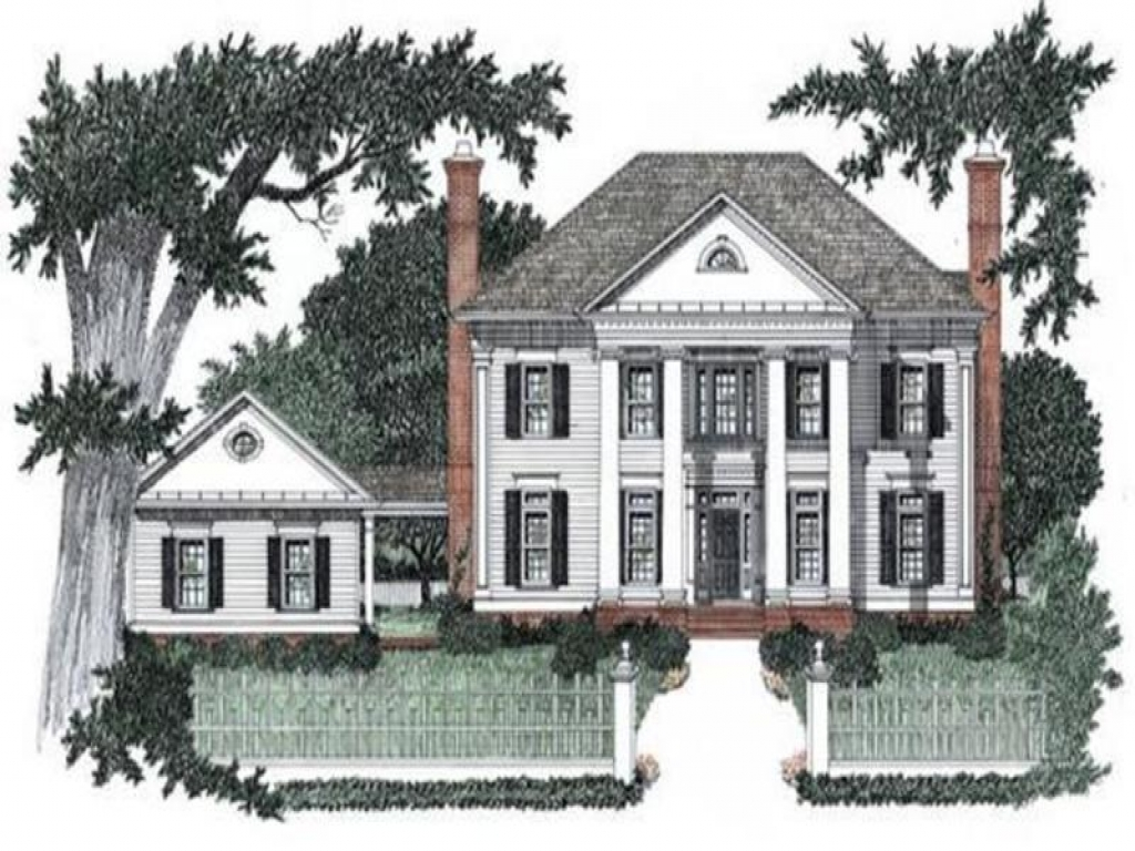 Small house plans colonial style house plans colonial for Colonial style homes pictures