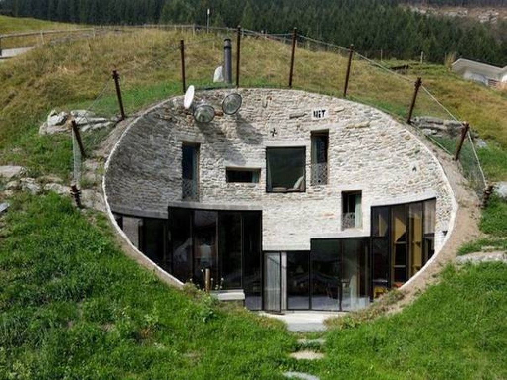 Earth home sheltered underground house underground homes for Underground home designs plans